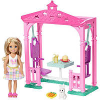 Набор Барби кукла Челси и пикник у бесетки Barbie Club Chelsea Doll and Pet Picnic SKL52-241096