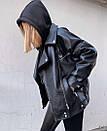 Женская кожаная куртка косуха из мягкой экокожи 68kur291, фото 3
