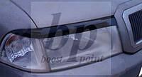Реснички передних фар Черный глянец Skoda octavia I tour (шкода октавия тур) 1996-2010