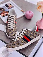 Модные женские кеды Gucci New Ace (реплика), фото 1