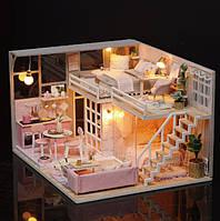 3D  конструктор  румбокс миниатюрный кукольный дом DIY House Girlish Dream