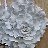Біле серце з пелюсток троянди  з написами Mr & MRS., фото 8