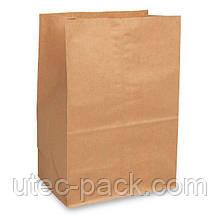 Крафт пакет из бумаги с прямоугольным дном, без ручек  230*120*290 мм
