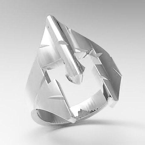 Кольцо серебряное  Спартанский Шлем КЦ-97 Б