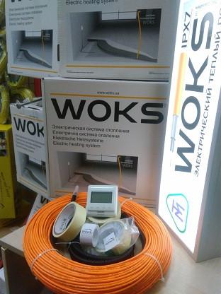 3 - 2,4 м2 430Вт Тепла підлога електрична Woks18 нагрівальний кабель 24м