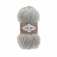 Пряжа 684 Alize Alpaca Royal, 100гр - 250м (серый)