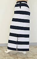 Довга літня спідниця в смужку у великих розмірах 10mbr646
