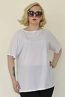 Свободная женская футболка в больших размерах 10mbr648