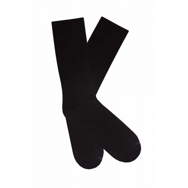 Высокие мужские носки из хлопка ТМ Дюна, чёрный цвет. Размеры: 27-29, 29-31