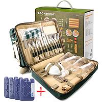 Набор для пикника КЕМПИНГ HB4-425 на 4 персоны (термосумка + посуда)