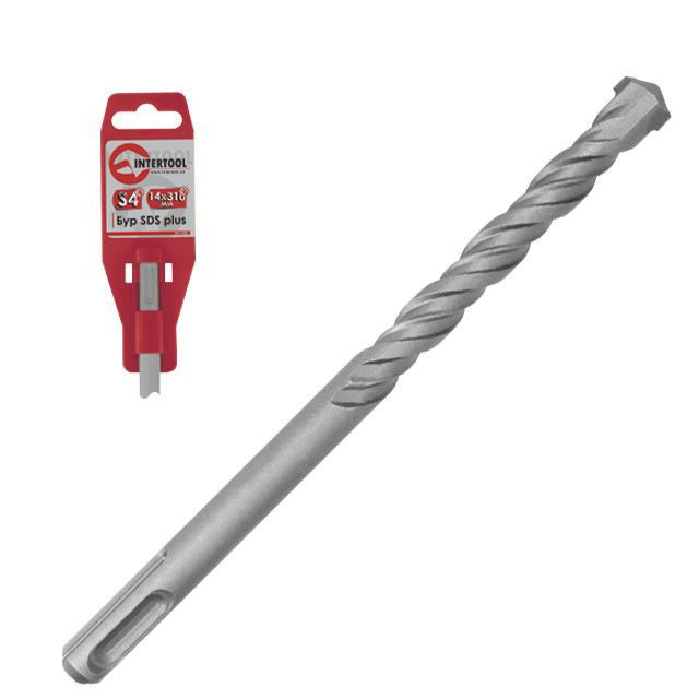 Бур SDS PLUS S4 10x400 мм INTERTOOL SD-1040
