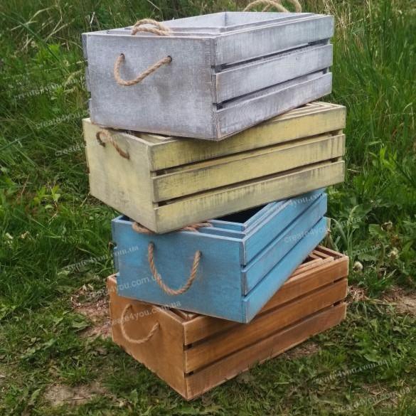 Набір з трьох дерев'яних ящичків