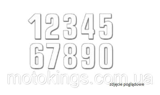 BLACKBIRD ЦИФРЫ НОМЕРНЫЕ 3ШТ. (16X7,5 см ) PROSTE, ЦВЕТ БЕЛЫЙ NR3 (E5048/10/3)
