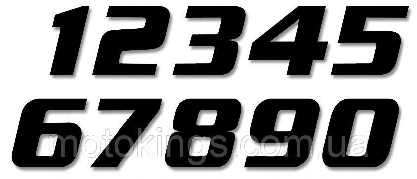 BLACKBIRD ЦИФРЫ НОМЕРНЫЕ 3ШТ. (21X11 см ) PROSTE, ЧЕРНЫЙ ЦВЕТ  NR3 (E5049/20/3)