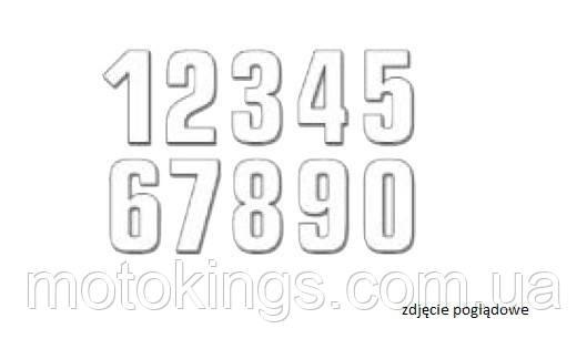 BLACKBIRD ЦИФРЫ НОМЕРНЫЕ 3ШТ. (16X7,5 см ) PROSTE, ЦВЕТ БЕЛЫЙ NR4 (E5048/10/4)