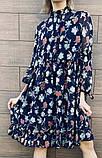 Белое шифоновое платье с цветочным принтом 23-305, фото 2