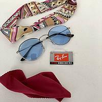 Очки солнцезащитные брендовые под Ray Ban голубые