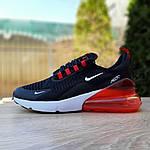 Чоловічі кросівки Nike Air Max 270 (чорно-білі з червоним) 1653, фото 2