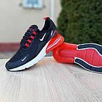 Чоловічі кросівки Nike Air Max 270 (чорно-білі з червоним) 1653, фото 3