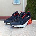 Чоловічі кросівки Nike Air Max 270 (чорно-білі з червоним) 1653, фото 5