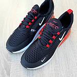 Чоловічі кросівки Nike Air Max 270 (чорно-білі з червоним) 1653, фото 7