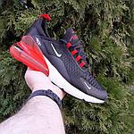 Чоловічі кросівки Nike Air Max 270 (чорно-білі з червоним) 1653, фото 9