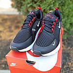 Чоловічі кросівки Nike Air Max 270 (чорно-білі з червоним) 1653, фото 8