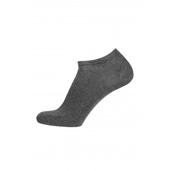 Короткие мужские носки из хлопка ТМ Дюна, тёмно-серый цвет. Размеры: 25-27, 27-29