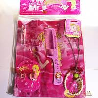 Набір Принцеса* (сумка+помада+колье/подвеска+расческа)