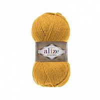 Пряжа 02 Alize Alpaca Royal, 100гр - 250м (горчичный )