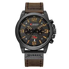 Мужские наручные часы Curren 8314 Черно-коричневые (10321)