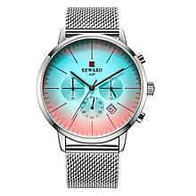 Наручные часы со стеклом хамелеон Reward 82004 Серебристые (967)
