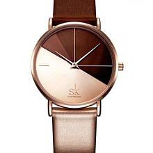 Наручные часы Shengke SK K0095 Коричневые (707-1)
