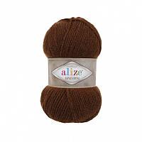 Пряжа 690 Alize Alpaca Royal, 100гр - 250м (коричневый )