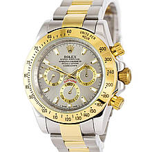 Наручные часы Rolex Cosmograph Daytona AAA Silver-Gold-Gray Реплика (1020-0420)