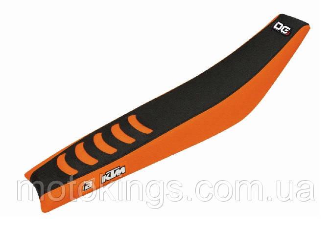 BLACKBIRD ЧЕХОЛ НА СИДЕНЬЕ  KTM SX/SXF '11-'15  '12-'16 доUBLE GRIP 3, ЧЕРНЫЙ ЦВЕТ /ОРАНЖЕВЫЙ (E1521H)