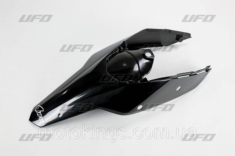 UFO ЗАДНЕЕ КРЫЛО  KTM  '08-'11 С БОКАМИ ЧЕРНЫЙ ЦВЕТ  (KT04021001)