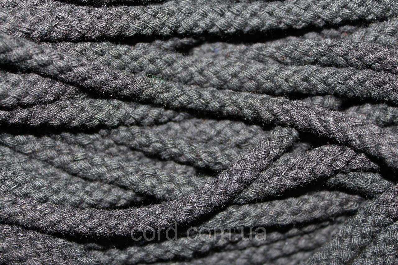 Шнур круглый 8мм ХБ 100м черный