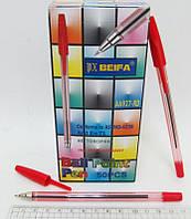 Ручка 927 Beifa original шариковая КРАСНАЯ уп50