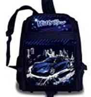 """Рюкзак ортопедический WL-826 """"Super Hard Base"""", 35х28х16см синий светоэлементы +уплотненное дно"""