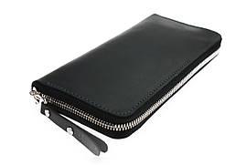Кошелек мужской кожаный клатч большой travel SULLIVAN  kmk58-3(19.5) черный