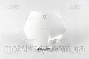 UFO ТАБЛИЦА НОМЕРНОГО ЗНАКА KTM SX 65 '09-'15 ЦВЕТ БЕЛЫЙ (KT04008047)