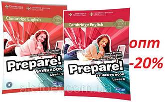 Английский язык / Prepare / Student's+Workbook. Учебник+Тетрадь (комплект), 4 / Cambridge