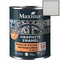 Фарба з металевою стружкой Maxima graphite enamel краска 3в1по металу (0,75л) срібляста
