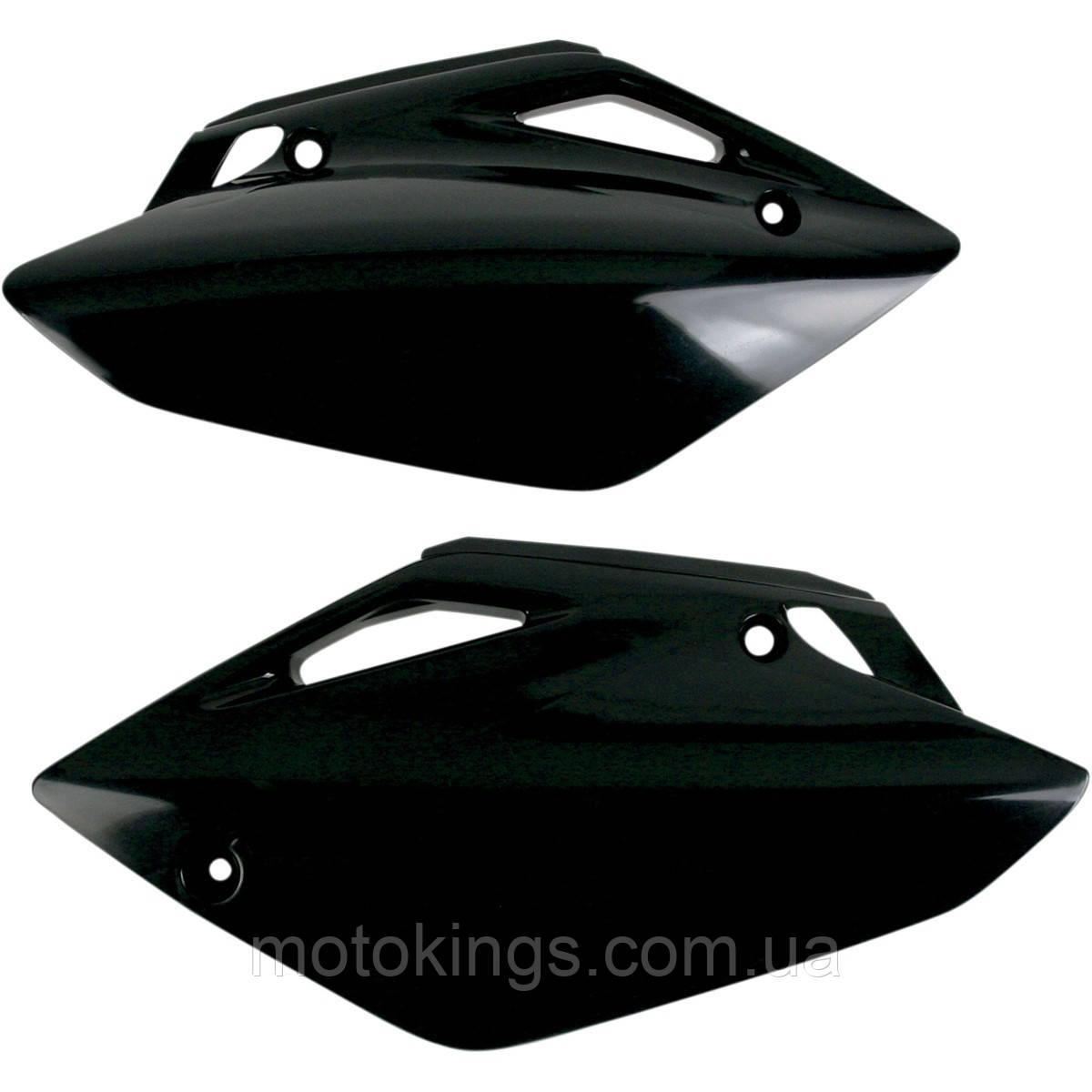 UFO БОКА ЗАДНИЕ HONDA CRF 150R '07-'09 ЧЕРНЫЙ ЦВЕТ  (HO04620001)
