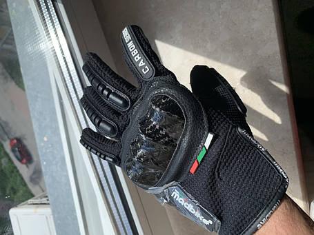 Защитные мото перчатки с костяшками Madbike мотоперчатки, фото 2