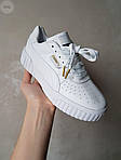 Жіночі шкіряні кросівки Puma Cali (білі) 409GL, фото 2