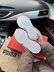 Женские кожаные кроссовки Puma Cali (белые) 409GL, фото 3
