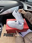 Женские кожаные кроссовки Puma Cali (белые) 409GL, фото 5