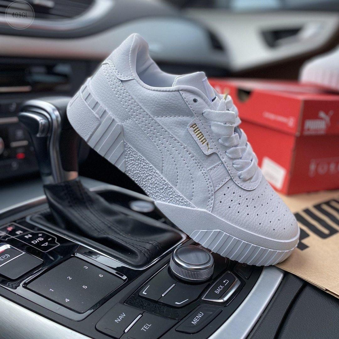 Жіночі шкіряні кросівки Puma Cali (білі) 409GL